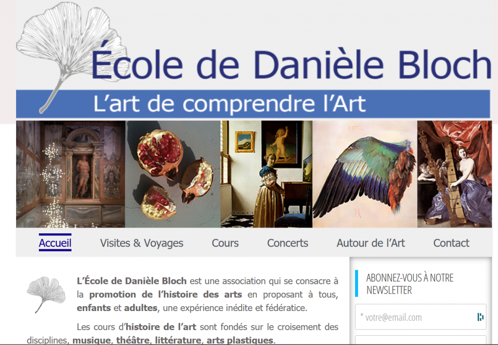 site web danièle bloch
